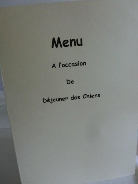 de menu kaart