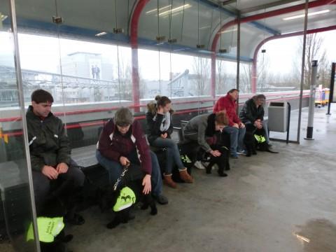 En dan weer even wachten op de trein